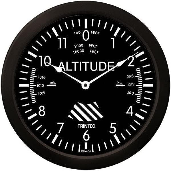 Trintec Massive 14 Aviation Classic Altimeter Wall Clock 9060 14 Aviatrix