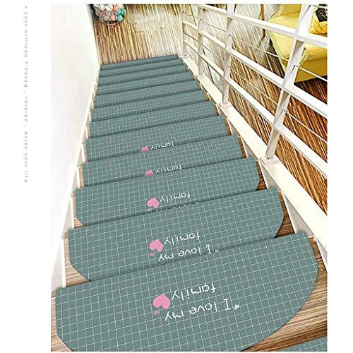Carpet Stair Loopvlak voor trappen, 5 stuks, ondertapijt, antislip, duurzaam, meerkleurig, 65 x 24 x 3 cm