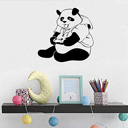 wZUN Panda Vinilo Pegatinas de Pared decoración de habitación de Adolescentes Pegatinas de Pared de Videojuegos decoración Creativa del hogar Sala de Juegos 42X40cm