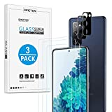 [3+2 Pack] OMOTON Samsung Galaxy S20 FE 5G Screen Protector & Camera Lens Protector, Tempered Glass/High Definition/9H Hardness