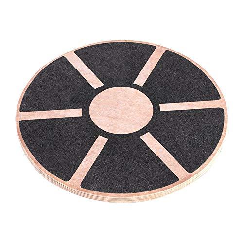 Rond houten balansbord, yoga-beginners trainingsbord, 0,7-inch dik composiet houten bord, antislip en dragend, voor pilates, dames, push-ups, gym