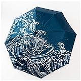 DFSDG Ombrello Ombrello Pieghevole ombrellone ombrellone Ombrello da Tasca Ombrello da Donna per Uomo Arcobaleno ombrelloni Fan