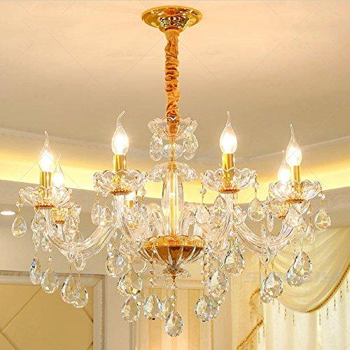 5151BuyWorld Lamp luxe lamp K9 New Crystal Gold Kaars kroonluchter LED verlichting hanger woonkamer kroonluchter kristallen lamp topkwaliteit