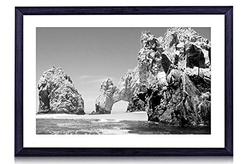 Cabo San Lucas, Mexico - Art Print Black Wood Framed Wall Art Picture For Home Decoration - Black and White 20'x14' (50cmx35cm) - Framed