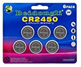 CR2450 650mAh 3v Battery for Watches Led Candles with 3 Years Warranty (6pcs)