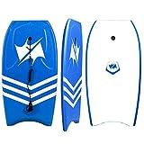 ZWW Bodyboard, Portable Lightweight Adult Top Body Surfing Handboard with Wrist Strap | HDPE Smooth Bottom |...