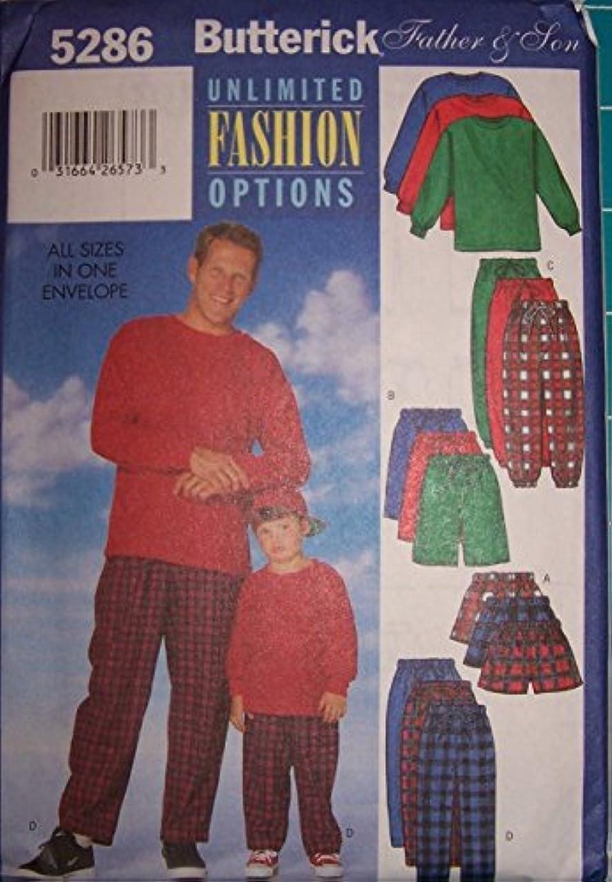 Butterick Pattern 5286-top Shorts Pants-men Children Boys with Flannel Fabrick .