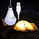 LEDMOMO USB Lumière Ampoule Camping Lumière Portable LED Ampoule Nuit Lumière pour la Maison D'urgence En...
