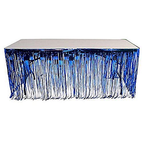 Price comparison product image Table Skirt in Royal Blue Metallic Color