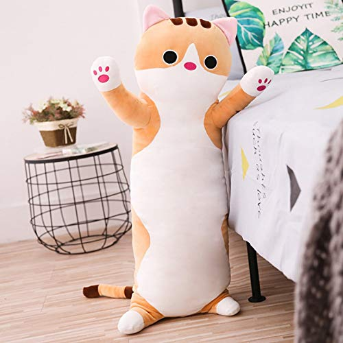 DMAIP Plush Toy Cat Pillow Soft Cushion Plush Animal Doll Cute Birthday