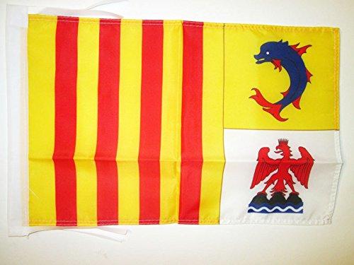 AZ FLAG Bandera de PROVENZA-Alpes-Costa Azul 45x30cm - BANDERINA DE Provence-Alpes-CÔTE D'AZUR - Francia 30 x 45 cm cordeles