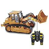 Lotees Ragazzi RC Truck Loader Vehicle Engineering Bulldozer a distanza escavatore di controllo Pala Loader radiocomandato Auto Musica illuminazione elettrica cingolati auto dumper regalo Kids Toy Bam
