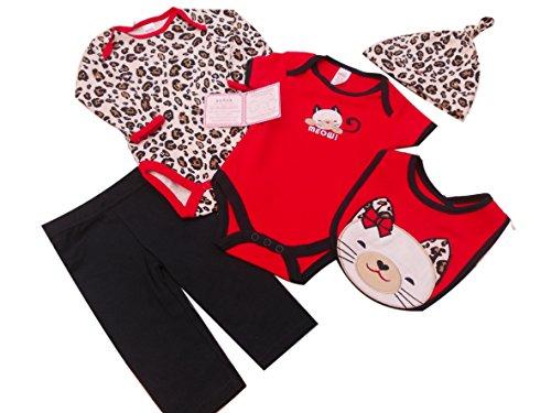 Layette set - Ensemble - Bébé (fille) 0 à 24 mois rose rouge 0-3 mois