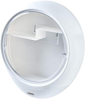 Generic ウォールマウントメイクアップ収納ボックスオーガナイザードリルなし防塵防水 - 白い