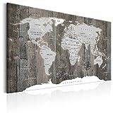 murando - Impression sur toile - 120x80 cm - 1 Piece - Image sur toile - Images - Photo - Tableau - motif moderne - Décoration - tendu sur chassis - Poster Carte du Monde Monde Continent k-C-0050-b-c