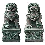 Wilai Decoración del jardín, estatuilla perro FU (o león...