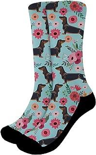 Funny Crazy Crew Socks for Unisex Women Men Printed Hiking Sports Mid-calf Socks