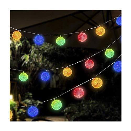 1.5m 10 LED Cadena de Luces Guirnalda Luces Bombilla Bola Decorativa Multicolor Batería Accionada Brillo IP45 Impermeable Vintage Luz de Exterior para la Fiesta, Dormitorio, Jardín, Boda Multicolor