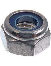 SECCARO borgmoer M6, roestvast staal V2A VA A2, DIN 985 / ISO 10511, zeskant, 20 stuks
