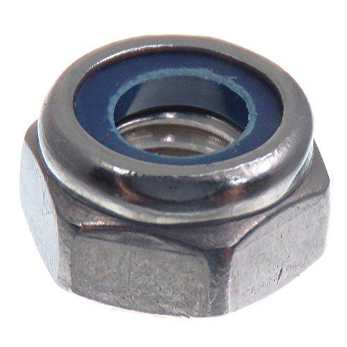 Tuerca de seguridad SECCARO M6, acero inoxidable V2A VA A2, DIN 985 / ISO 10511, hexágono, 20 piezas