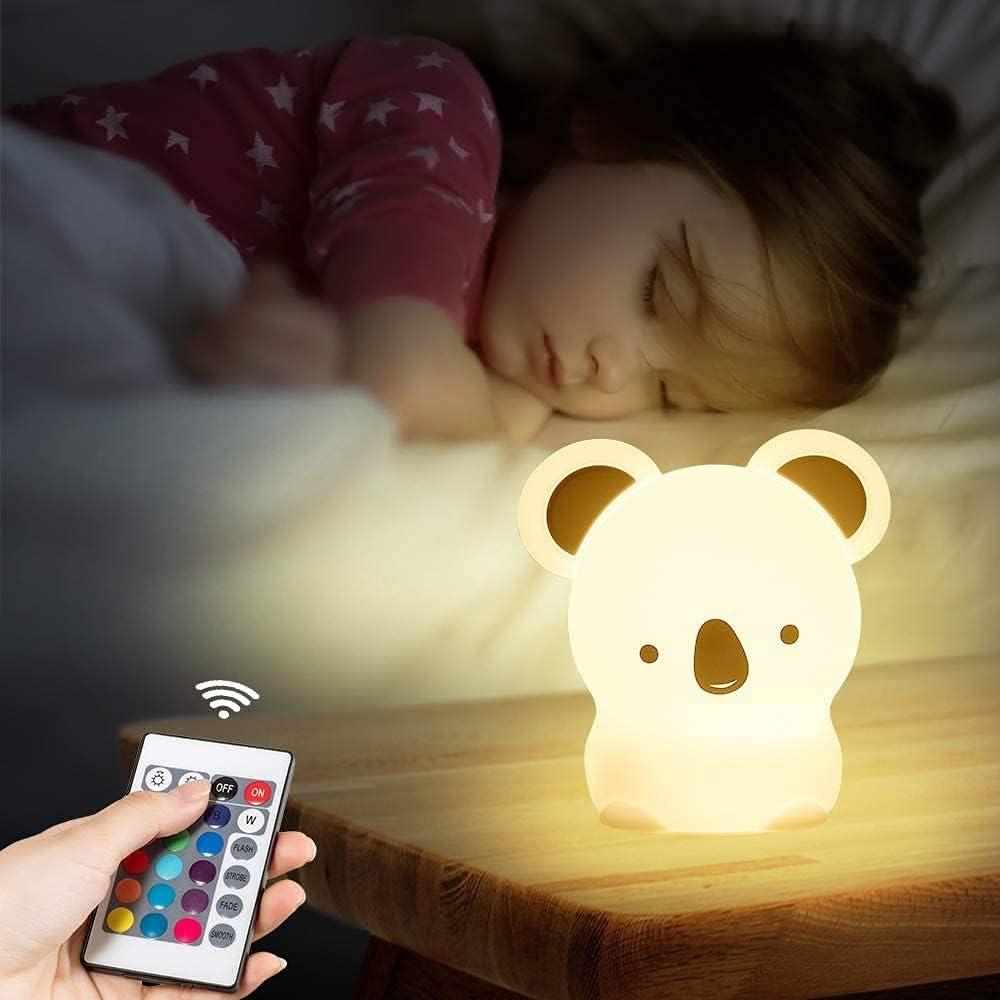 LHAOJA Cute Koala Animal Max 52% Elegant OFF Night Light Color with Control C Remote