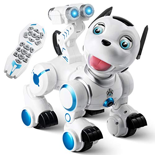 Remote Control Robotic Dog RC Interactive Intelligent - Walking Dancing Programmable Smart Robot Puppy Toys - Electronic Pets with Light and Sound for Kids Boys & Girls