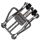 Ruderzugmaschine mit Home Fitness Full Motion Rudergerät Rower Kapazität und LCD-Monitor Rudertraining Fitnessgeräte (Farbe : Schwarz, Größe : Einheitsgröße) - 3