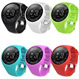 TenCloud Polar M200 Running Watch Replacement Accessories Silicone Wristband (All Colors-6pcs)