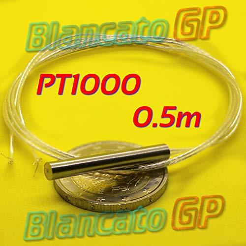 Sonda PT1000 4 x 30 mm 0,5 m clase B sensor de temperatura RTD termómetro platino
