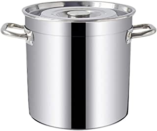 WQF Bandeja Grande de Acero Inoxidable Profunda para cocinar Base de inducción de Tapa de Acero Inoxidable, Dos Opciones de tamaño (Tamaño: 49.5 * 50.5cm) (Tamaño: 49.5 * 50.5cm)