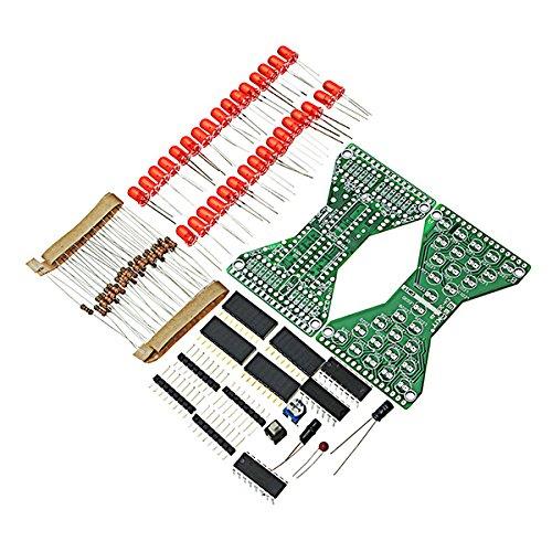 BliliDIY 5 Stücke DIY Elektronische Sanduhr Kit Löten Praxis Ersatzteile Dc3.3-5V Geschwindigkeit Einstellbar