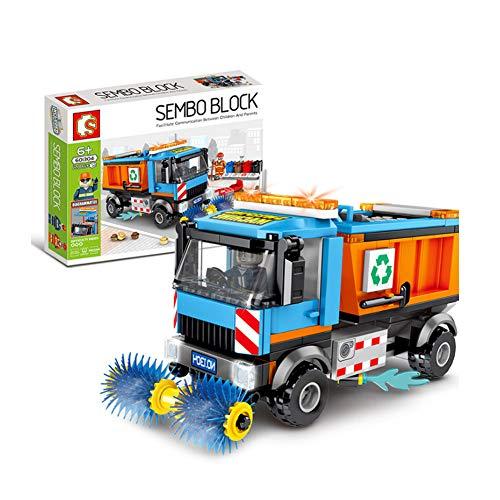 Cqing Pädagogisches Spielzeug Für Kinder, Automodelle, Kehrmaschinen-Spielzeug, Baustein-Spielzeug, Kompatibel Ist