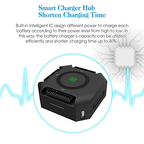 Smatree Battery Charger Compatible for Mavic Pro/Platinum, Mavic Pro Charge Hub with 80W Rapid Battery Power Adapter
