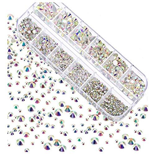 KAERMA Nail Sieraden Materiaal Pack 2-6mm Rond 2000 Stks/doos AB Kleur, Goud Acryl Proces Plating Armband en oorbellen sieraden accessoires Handgemaakte DIY sieraden