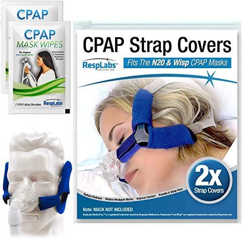 RespLabs Cubiertas de Correa CPAP, Compatibles con Respironics Wisp - Cojín Suave [Paquete de 2]
