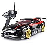 Nsddm Coche RC Gran tamaño Escala 1/10, Coche Carreras Deriva Velocidad de 70 km/h, Vehículo teledirigido eléctrico 2.4G 4WD Hobby Toy Car Drift Toy Vehicle para Adultos niños con 2 Pilas