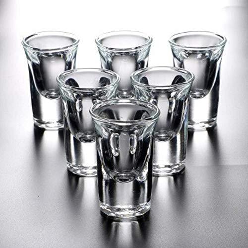 ERTY Schnapsglas Set Mit Rack Mini Bullet Cup Haushalt Bar Club Bleifrei Feuerwasser Schnaps Wein Verre Pint Gläser, 6 Stück 20ml