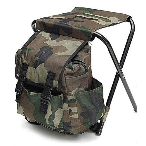 Tenwan 32*28*32 cm al aire libre plegable llevar camping taburete plegable silla bolsa de almacenamiento mochila para senderismo camping pesca viajes