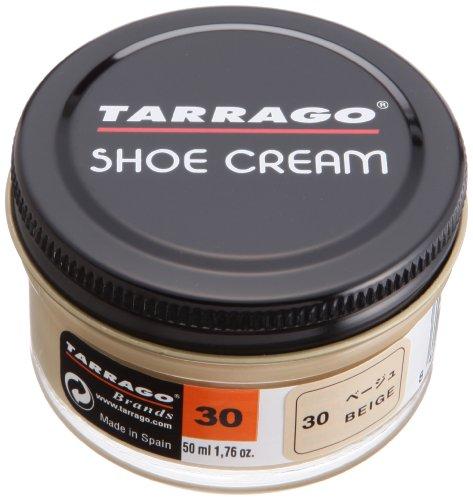 [タラゴ] 色づきの良い靴クリーム シュークリーム 50ml 靴磨き 乳化性 保湿 補色 ツヤ出し メンズ ベージュ