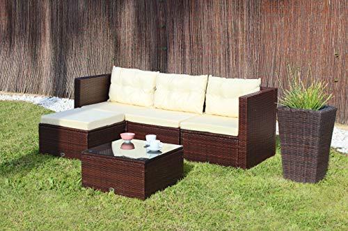 KieferGarden San Francisco sofá modular de exterior chaise longue y mesa