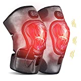 GINEKOO Heated Knee Massager, Cordless Heating Vibration Massaging Knee Brace Wrap with 5000mAh Rechargeable Battery for Knee Pain Arthritis Joint Pain Relief