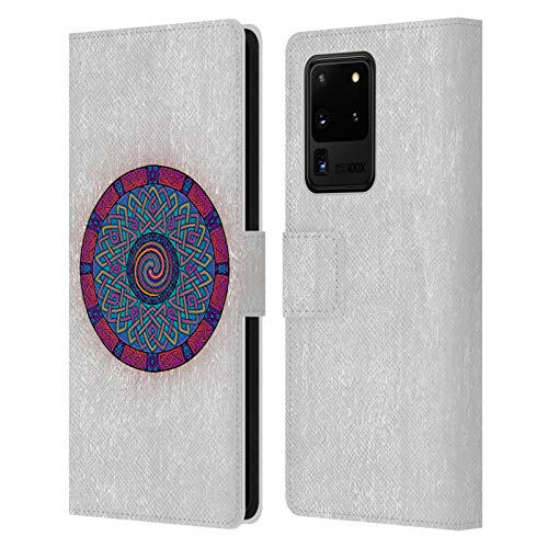 Head Case Designs Officially Licensed Beth Wilson Ancient Geometric Celtic Shield Knots Leather Book Wallet Case Cover Compatible with Samsung Galaxy S20 Ultra 5G