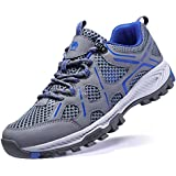 Official Camel Men Hiking Shoes Lightweight Non-Slip Mesh Trail Running Sneakers Breathable Outdoor Trekking Walking Shoes Grey