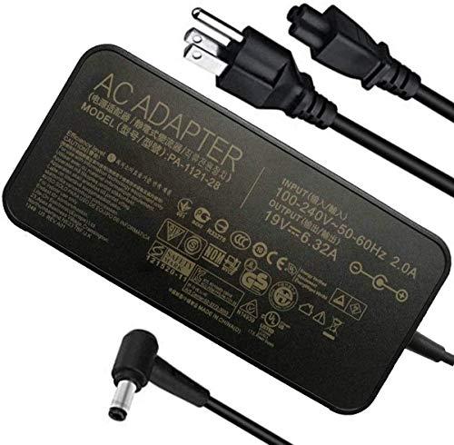 KK LTD fit for 120W 19V 6.32A Power Adapter PA-1121-28 A15-120P1A AC Power Charger fit for ASUS ROG GL502VT GL502V GL502 GL502VT-DS71 N750 N500 G50 N53S N55 Gaming Laptop