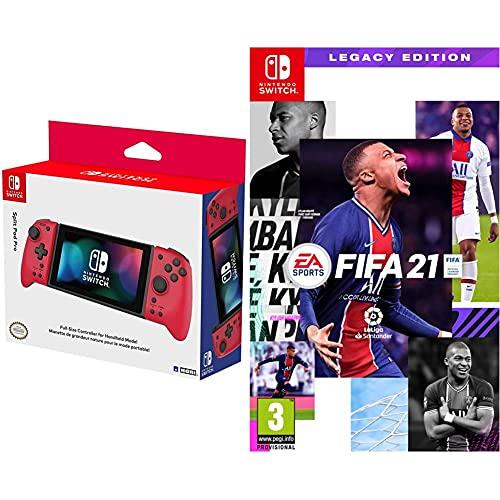Hori Controlador Split Pad Pro Rojo (Nintendo Switch) + Electronic Arts FIFA 21 Legacy Edition Nintendo Switch