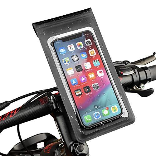Inroserm Soporte Móvil Bicicleta 360 Grados Rotacin, Bolsa para Manillar de Bici & Moto Impermeable con TPU Pantalla Tctil Pera Teléfono Móvil Debajo de 6.5 Pulgadas
