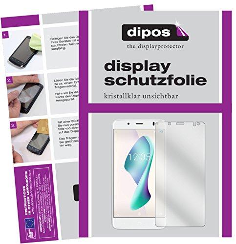 dipos I 6X Schutzfolie klar kompatibel mit BQ Aquaris VS Plus Folie Bildschirmschutzfolie
