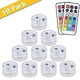 【Neue Version】 10pcs Mini Unterwasser LED Licht,...