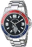 U.S. Polo Assn. Reloj analógico de cuarzo para hombre con correa de aleación, plata, 21 (Modelo: USC80500)