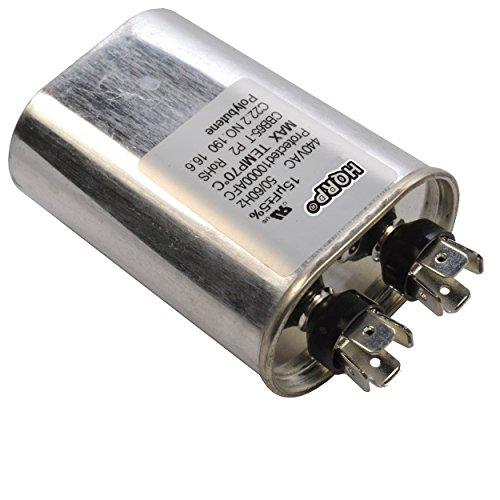 HQRP 15uf 370-440V Kondensator kompatibel mit Start des Wechselstrommotors HVAC Blower Compressor Furnace 15MFD 27L567 97F9004 Z97F9004 97F9004BZ3 CBB65